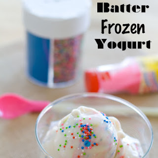 Cake Batter Frozen Yogurt