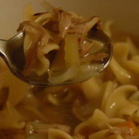 "Jackfruit ""Chicken"" Noodle Soup"