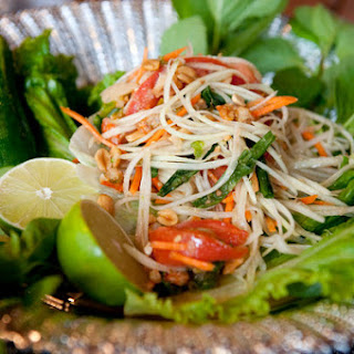 Chicken With Lime, Chili and Fresh Herbs (Larb Gai)