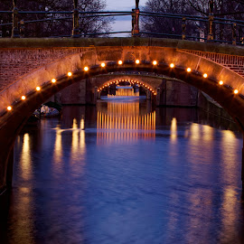 7 Bridges of Amsterdam by Yash Mehta - Buildings & Architecture Bridges & Suspended Structures ( canals, night photography, dutch_things, amsterdam, bridges )