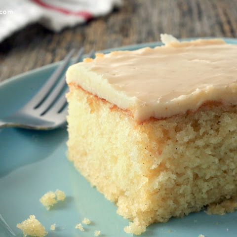 Vanilla Cake with Brown Butter Glaze