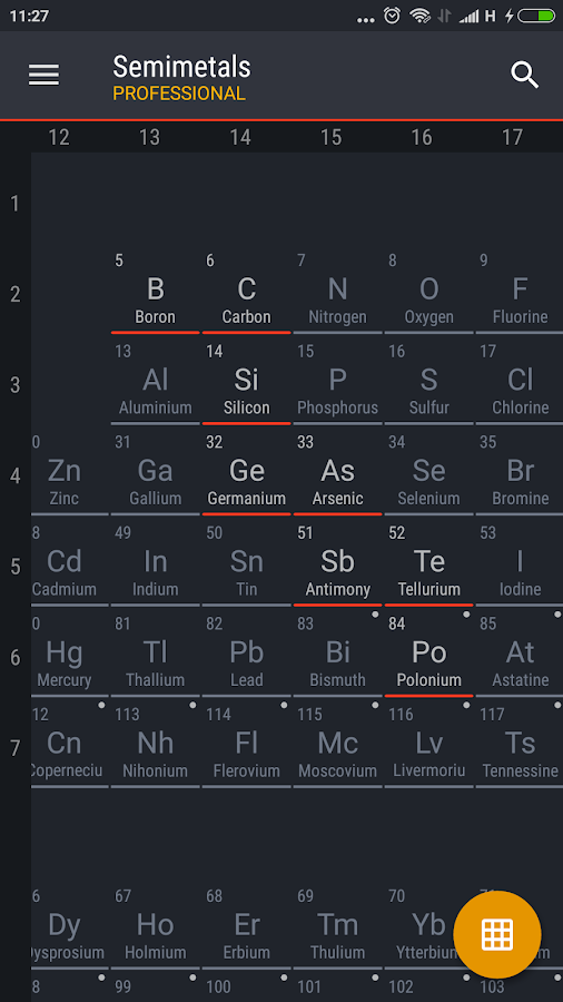 Periodic Table 2017 Pro Screenshot 5