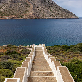 From the sea to the church by Diogo Ferreira - Landscapes Travel ( stairs, mountain, sky, sea, seascape,  )