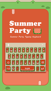 Summer Party Typany Theme - screenshot