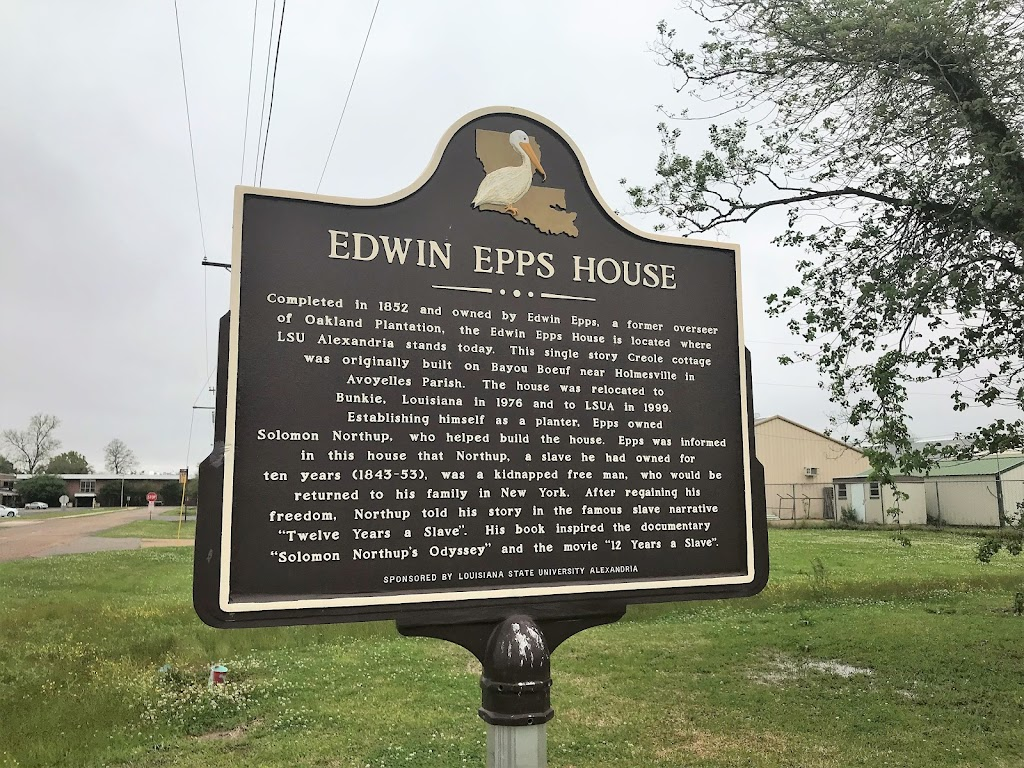 Completed in 1852 and owned by Edwin Epps, a former overseer of Oakland Plantation, the Edwin Epps House is located where LSU Alexandria stands today. This single story Creole cottage was originally ...