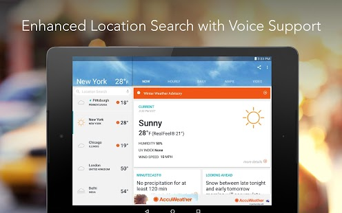 Download Android App AccuWeather for Samsung
