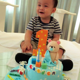 My grandson's 1st Birthday by Dennis Ng - Babies & Children Toddlers
