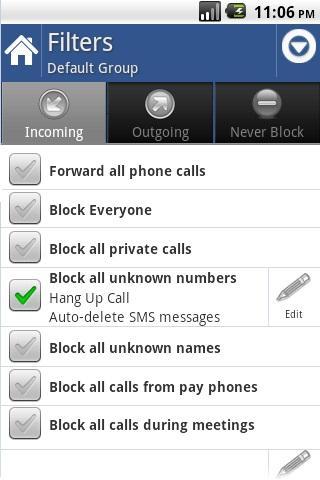 License for Call Blocker Gold - screenshot