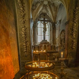 Kostnice by Yordan Mihov - Buildings & Architecture Places of Worship ( candle, kutná hora, czech republic, kostnice )