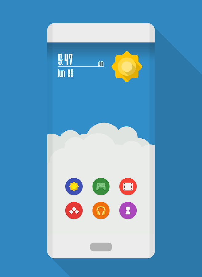 NAXOS FLAT ROUND - ICON PACK Screenshot 1