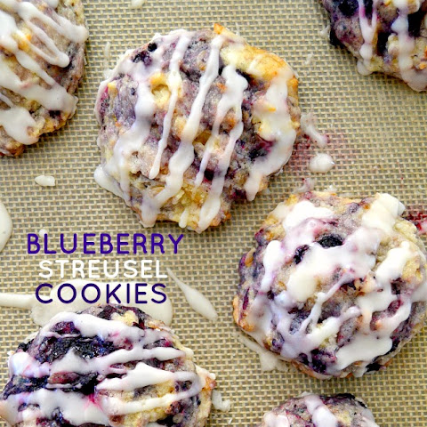 Muffin Mix Blueberry Streusel Cookies