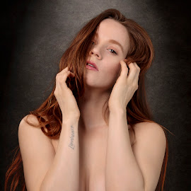 Brooke X by Xavier Wiechers - Nudes & Boudoir Artistic Nude ( glamour, model, sexy, topless, nude, girl, brooke, woman, beautiful, thin, redhead, freckles, people, portrait )