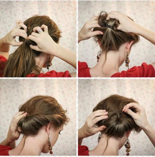 Красивая прическа на средние волосы в домашних условиях быстро