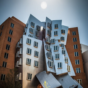 The Crooked Building I ! by Abhay Sharma - Buildings & Architecture Other Exteriors ( building, sky, mit, scenic, sun )