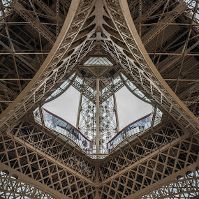 Iron Architecture by Nitescu Gabriel - Buildings & Architecture Public & Historical ( paris, eiffel tower, structure, tower, european, europe, architecture,  )