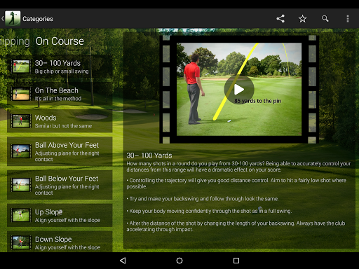 Golf Coach by Dr Noel Rousseau - screenshot