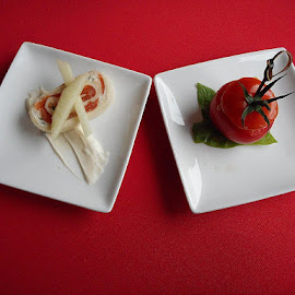 plated food by Paul Wante - Food & Drink Plated Food ( red, tomato, plate, white, plated food )