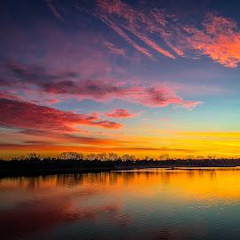 Sunrise  by Mike Hotovy - Landscapes Sunsets & Sunrises