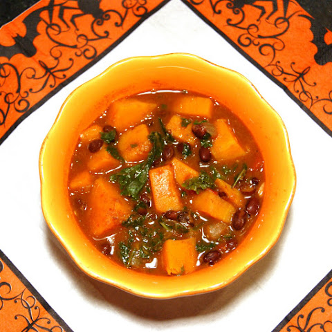 Butternut Squash & Black Bean Stew with Kale