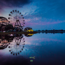 Symmetric Carousel  by Yethu Aung - Landscapes Travel ( nautre, myanmar, sunset, carousel, travel, landscapes )