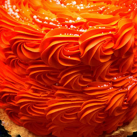 Orange Flourished Cake by Lope Piamonte Jr - Food & Drink Cooking & Baking