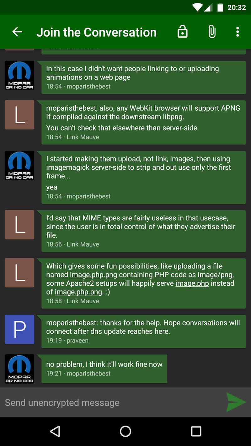 Conversations (Jabber / XMPP) Screenshot 3