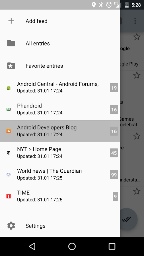 RSS Reader Screenshot 0