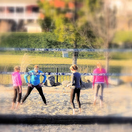 Volleyball! by Becky Luschei - Sports & Fitness Other Sports ( girls, played, volleyball, bend or, friendly, game )