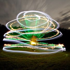Man of Fire by Augustin Cross - Abstract Light Painting ( sparkler, light painting, manonfire, dome, sparkle )
