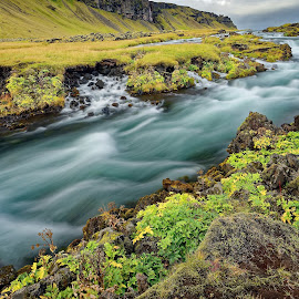 Wild river 2 by Michaela Firešová - Landscapes Waterscapes ( countryside, iceland, long exposure, landscape, river )