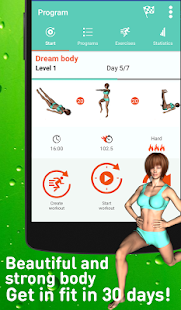 Everyday super home workout Fitness app screenshot for Android