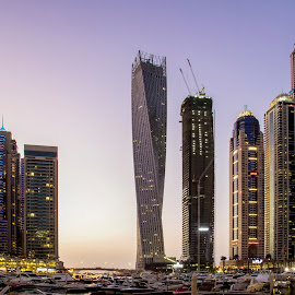 Dubai Marina by Kingsly Xavier George - Buildings & Architecture Architectural Detail ( marina dubai, skyscraper, towers, twist building, dubai, buildings, marina )