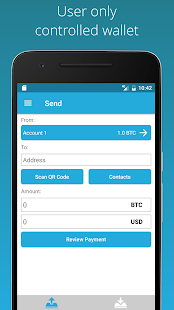 Bitcoin Wallet - ArcBit screenshot for Android