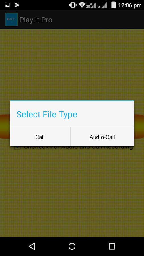 Hidden Call Audio Recorder Pro Screenshot 1