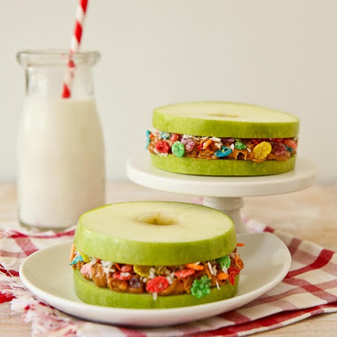 Fruity Pebbles Apple and Peanut Butter Stackers