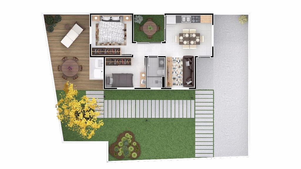 Casa com 2 quartos em condomínio