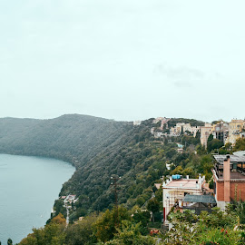 Genzano - Italy by Boiciuc Ciprian - Landscapes Forests ( buildings, lake, forest, genzano, landscape, italy, pope )