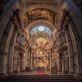 Karls Kirche by Ole Steffensen - Buildings & Architecture Places of Worship ( wien, vienna, altar, church, karls kirche, austria )