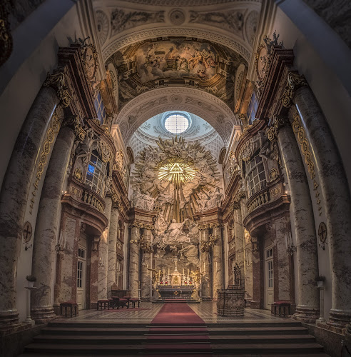 Karls Kirche by Ole Steffensen - Buildings & Architecture Places of Worship ( wien, vienna, altar, church, karls kirche, austria )
