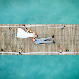 Love from Above 2 by Andrew Morgan - Wedding Bride & Groom