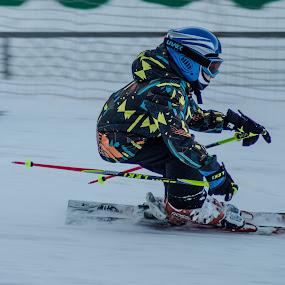 SKIING by Alexandru Bogdan Grigore - Sports & Fitness Snow Sports ( ski, sking, winter, teenager, snow, helmet )