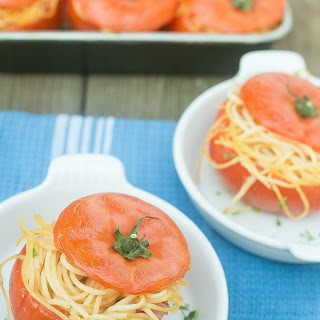 Spaghetti Stuffed Tomatoes