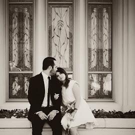 Here. by Laura Watkin - Wedding Bride & Groom ( love, utah, wedding, payson, couple )