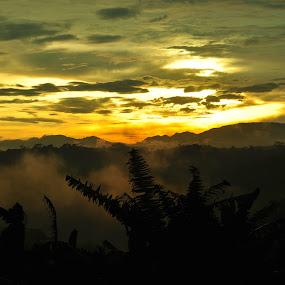 Sunset over Jatibarang, Semarang. by Syarief Wiranegara - Landscapes Sunsets & Sunrises
