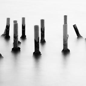 Long exposure by Ömür Kahveci - Abstract Fine Art ( b&w, fineart, seascape, longexposure )