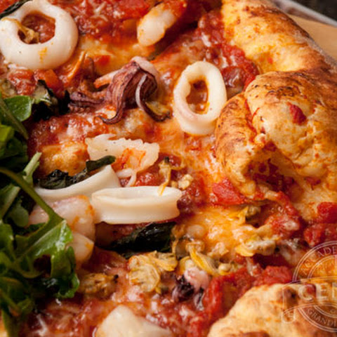 Crab Gravy Seafood Pizza
