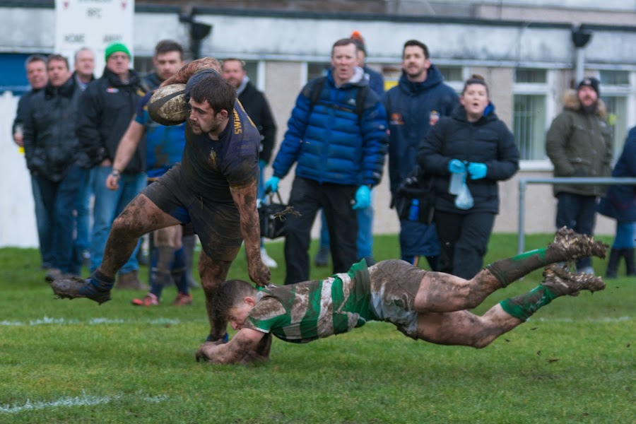Dodging the tackle by James Booth - Sports & Fitness Rugby ( teamwork, sports, sport, team, rugby )
