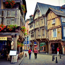 A village in Normandy by Travis Pambu - City,  Street & Park  Historic Districts ( dinan, france, june 2014, normandy,  )