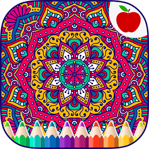 Adult Coloring Books: Mandalas Icon