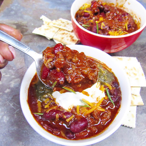 Beef and Roasted Poblano Pepper Chili